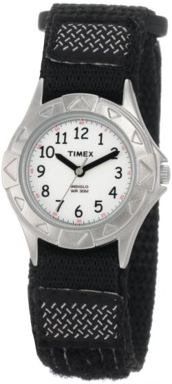 timex kids' my first outdoor black fast wrap velcro strap watch
