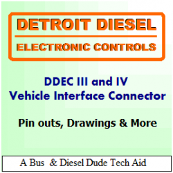 Detroit Diesel DDEC III and IV ECM Vehicle and Engine Connectors
