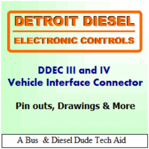 detroit diesel ddec iii and iv ecm vehicle and engine connectors pinouts diagrams and more for the ddec 3 and 4