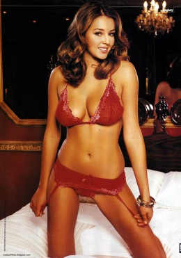 Red lingerie makes a statement...