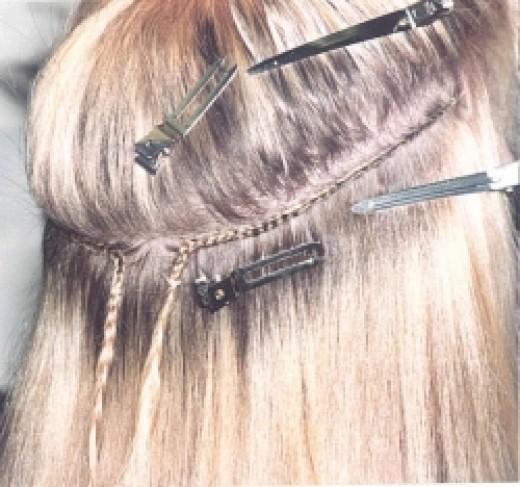 caucasian sew in extensions