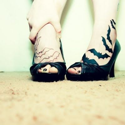 Bats on her Feet