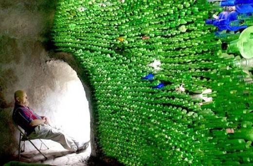 Bottles in His Walls
