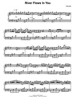 Yiriuma - River flows in You Sheetmusic