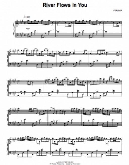 Yiriuma - River flows in You Sheetmusic