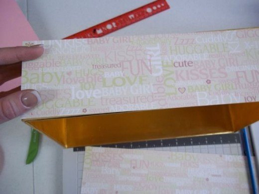 Measure and cut paper to cover the sides
