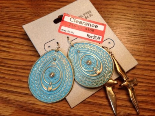 I also love these blue earrings found on clearance at Target.