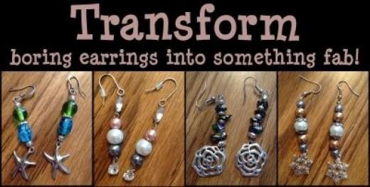 Turn your boring earrings into something fabulous!