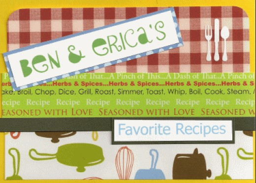 The front cover of Ben and Erica's recipe book.