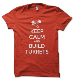 Keep Calm and Build Turrets Terran Starcraft T-Shirt