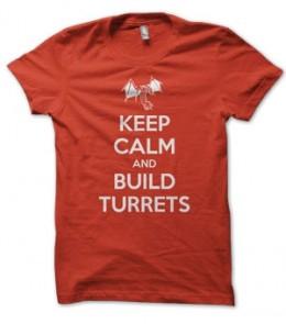 Keep Calm and Build Turrets Terran Starcraft T-Shirt