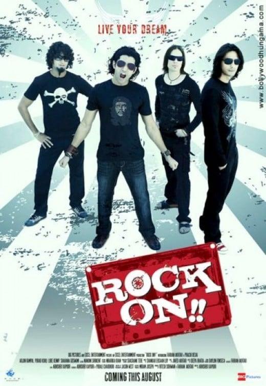 Farhan Akhtar and the Rock On! Team