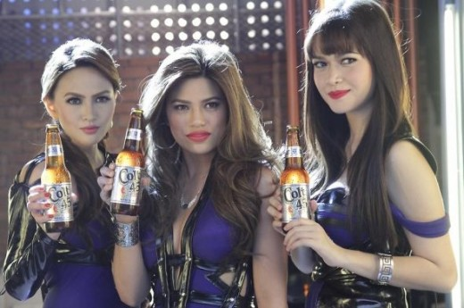 2013 Denise Luarel, Bella Padilla and Cesca Litton Colt 45 Model Advertisers
