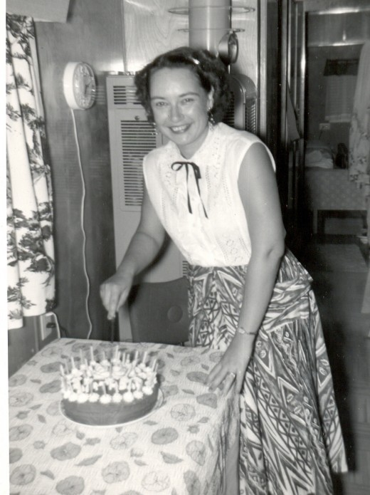Aunt Janice at home in the San Fernando Valley