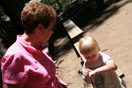 Grandma with Liam