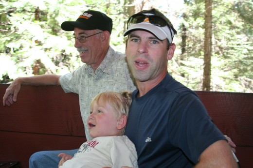 Grandpa with Daddy and Liam