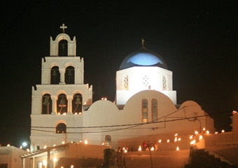 Pyrgos Church by Night