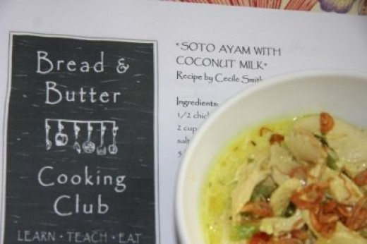 Soto Ayam with coconut milk