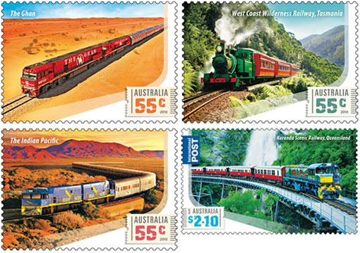Train Commemorative Stamps