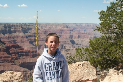 Devin at the Grand Canyon