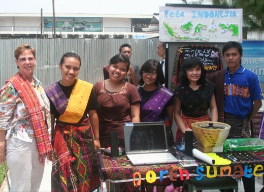 Cecile with some Indonesian students