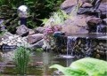 Ponds and Waterfalls Add Interest
