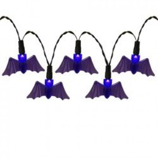 Bat Halloween String Lights