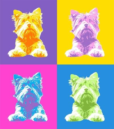 Pop art print of a Dog!