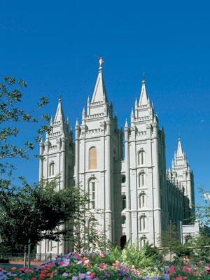 The LDS Temple in Salt Lake City, Utah.