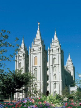 The LDS Temple in Salt Lake City, Utah.