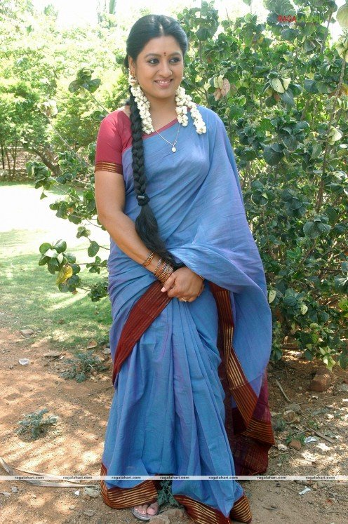 Sana Telugu Serial Actress Saree Photos Image 7
