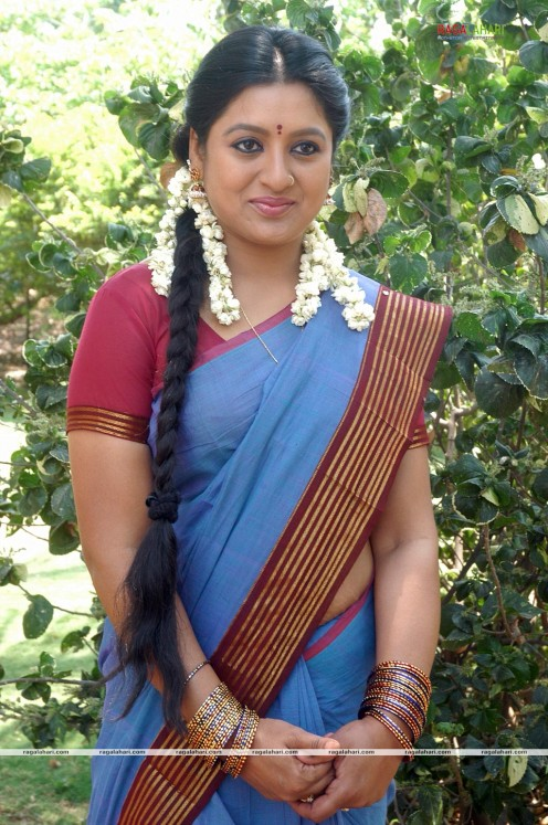 Sana Telugu Serial Actress Saree Photos Image 8