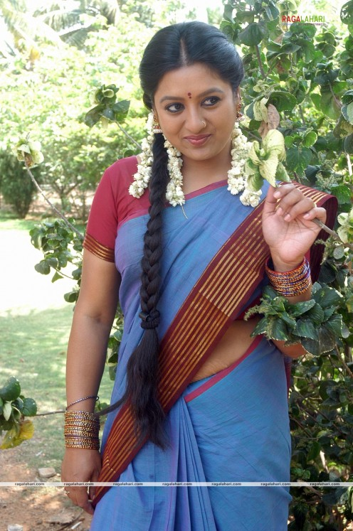 Sana Telugu Serial Actress Saree Photos Image 16
