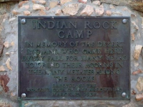 The sign dedicated to the Indian Rock Camp.