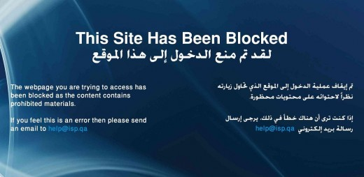 internet censorship in the state of qatar