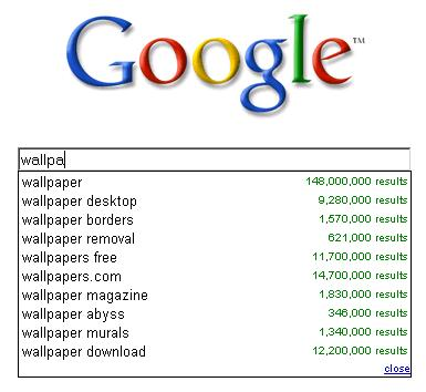 These screen shot reveals that many people like to search wallpapers through www.google.com.