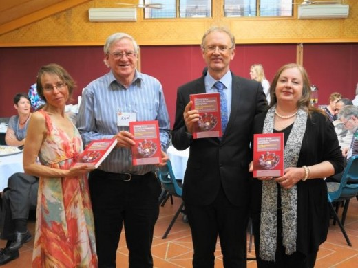 Maureen Todhunter, (Copywriter), Ron Passfield, Richard Teare (co-author) and Jo Ann Pomfrett (Proofreader) at the launch of Lifelong Action Learning.