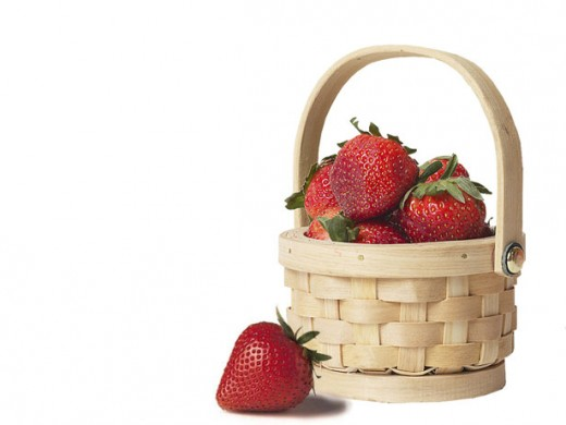 strawberry basket public domain