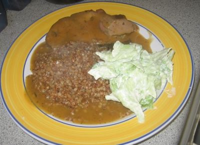 Buckwheat with Sunday roast