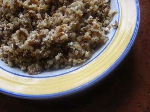 Buckwheat groats with cheese