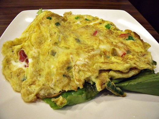 Omelette.  Or omlete, if you prefer