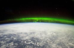 northern lights, public domain by nasa