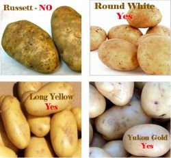 types of potatoes