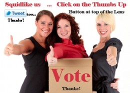 vote, tweet, and squidlike us - click tweet & thumbs up button - top or bottom of the page