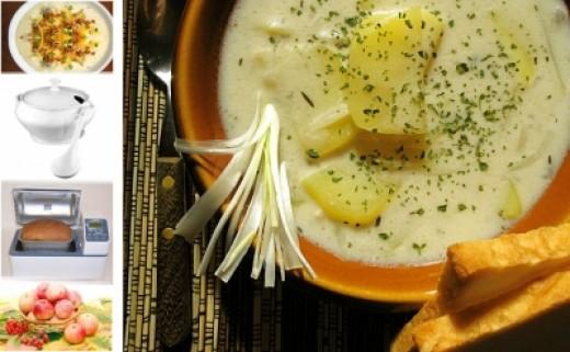Grandma Irene's Original Potato Soup Recipe serve with warm fresh baked french bread