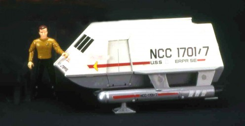 Captain Kirk and his die cast shuttle craft!