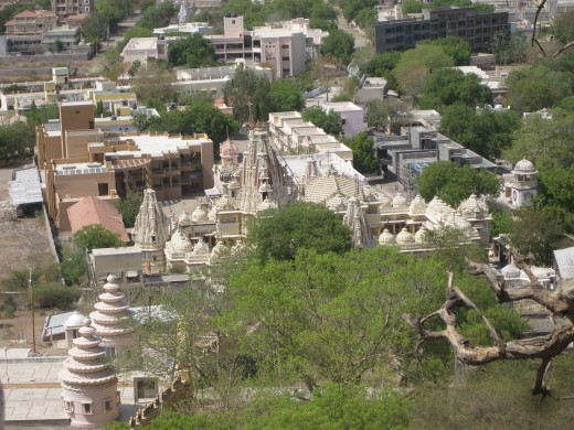 Temples and other areas at Palitana Talheti (Valley)