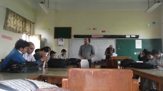 MPhil students making class performence, Tribhuvan University-Kathmandu, Nepal