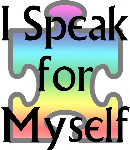 """""""I Speak for Myself"""", design created by the hub autor, available at Zazzle.com"""