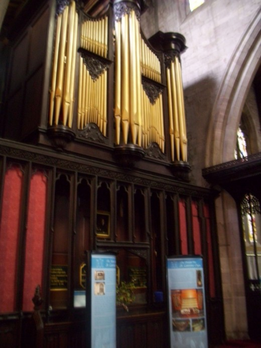Organ In The St Laurence's  Church
